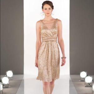 Gold sequin Sorella Vita tea length dress
